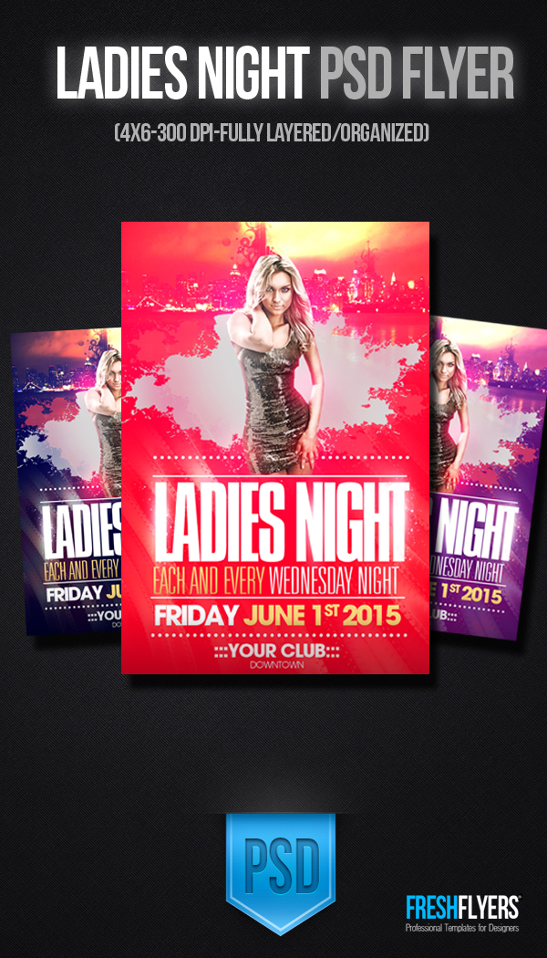 Ladies Night Flyer Template Free