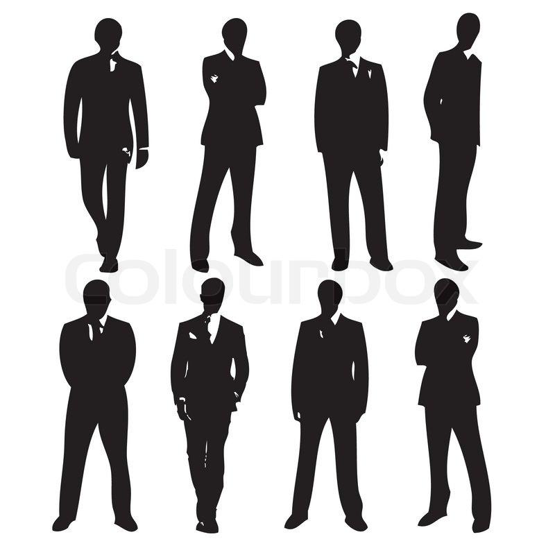 18 Vector Man Silhouette Suit Images