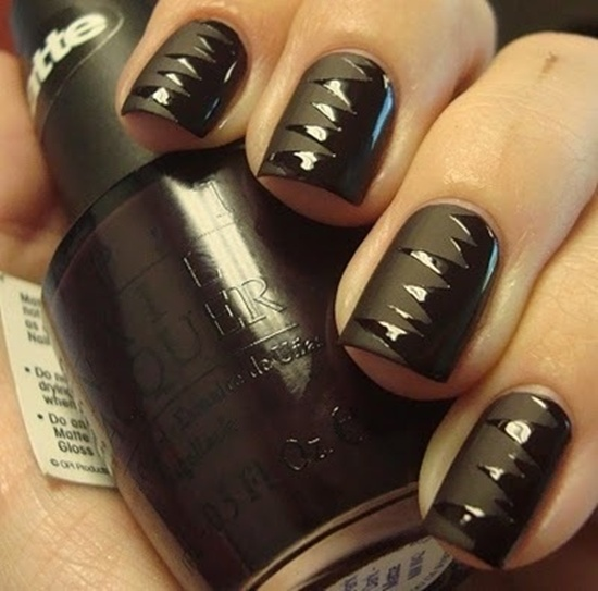 12 Matte Black Nail Designs Images Black Matte Nail Polish Black Nails With Gold And Matte Black Nails With Shiny Tips Newdesignfile Com