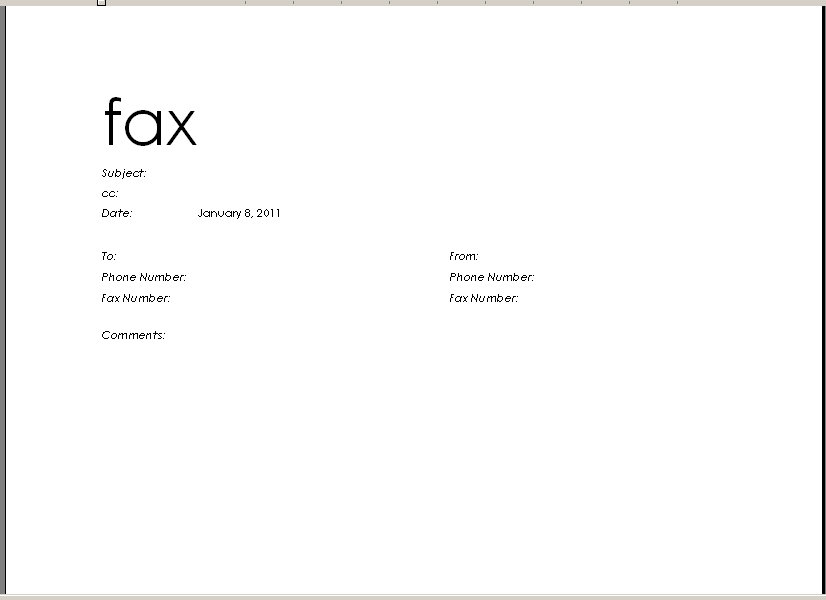 Doc432561 Printable Fax Sheet Free Fax Cover Sheet Template – Fax Cover Sheets Templates Free