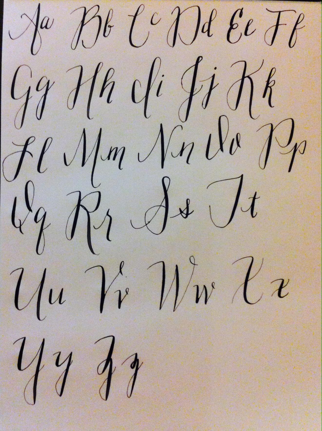 Modern Calligraphy Alphabet Fonts