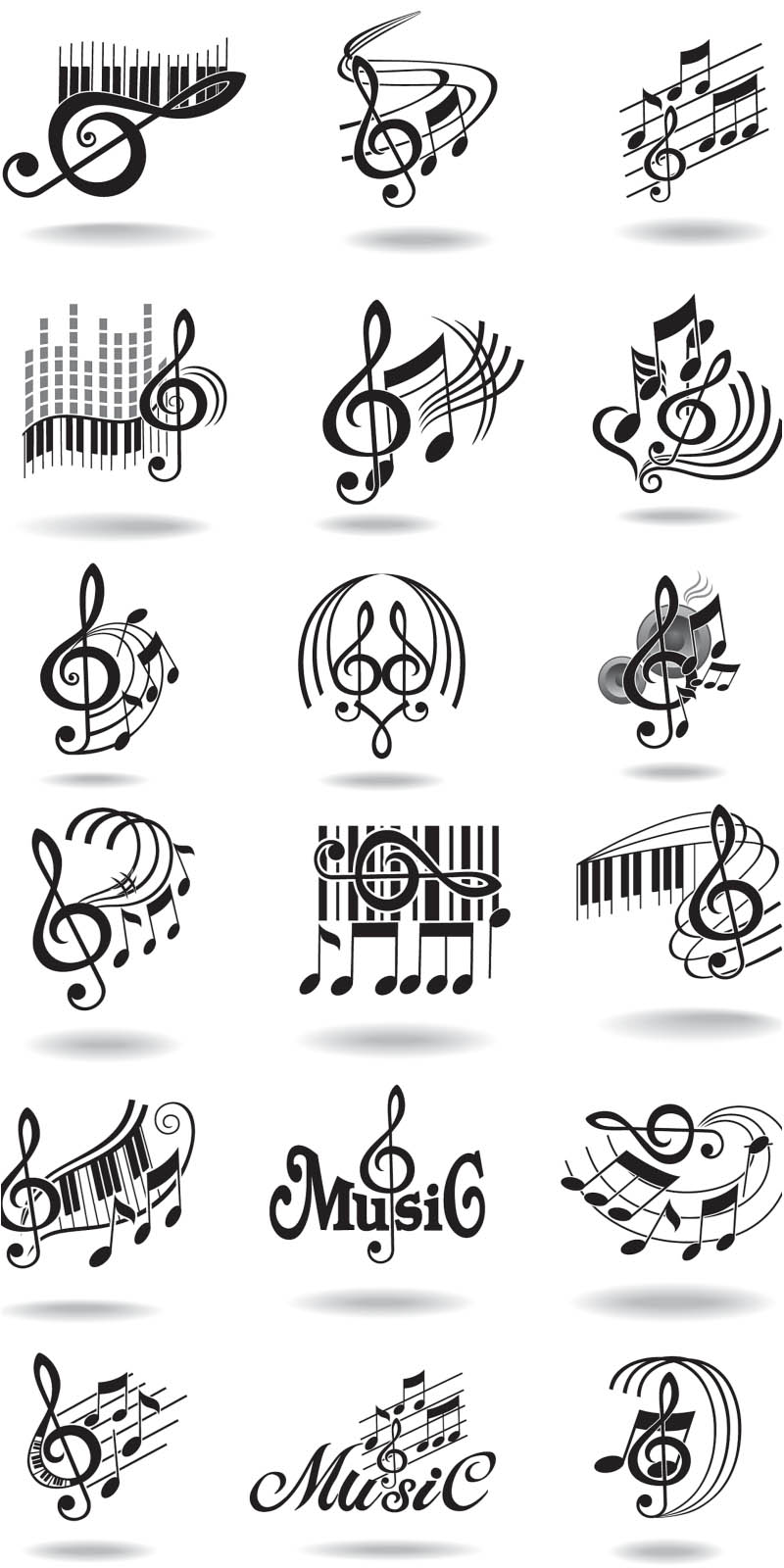 Music Staff Treble Clef Notes