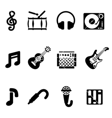 16 Music Icon Vector Images