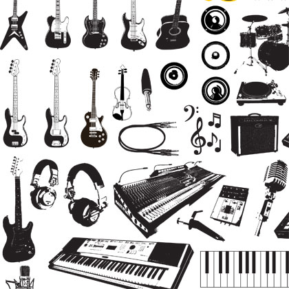 Musical Instruments Free Vector Graphics