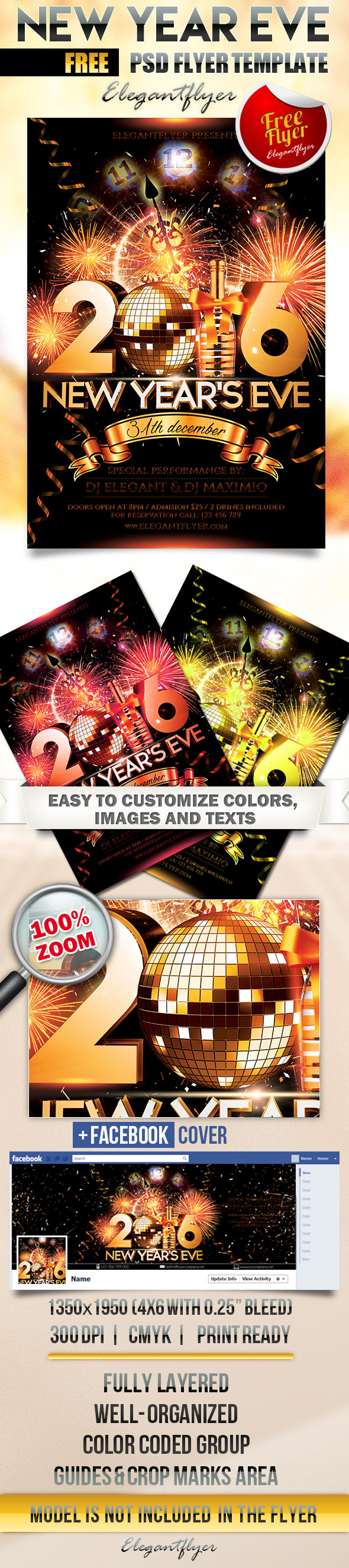 New Year's Eve Flyer Template Free