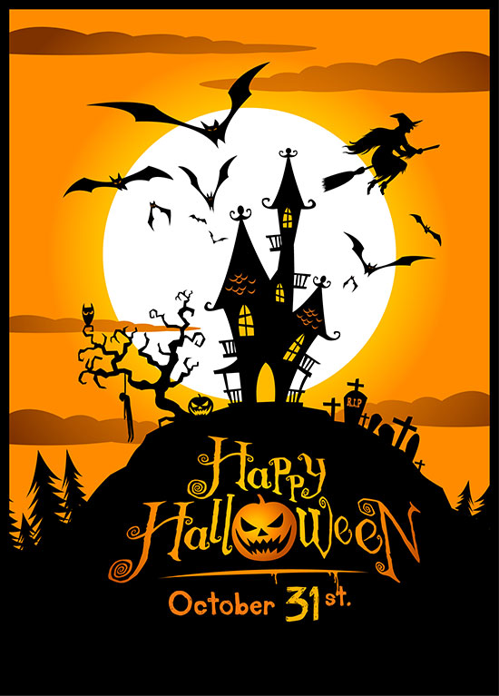 12 Happy Halloween Pumpkin Vector October Images