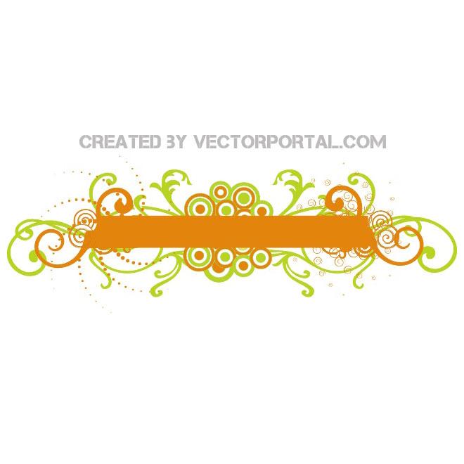 Orange Banners Vectors