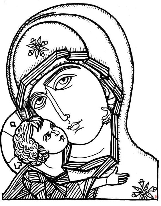 15 Line Drawing Patterns For Religious Icons Images