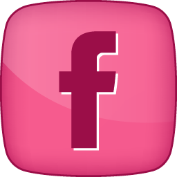 12 Pink And Black Facebook Icon Images