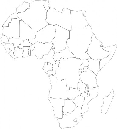 12 Africa Map Vector Free Clip Art Images