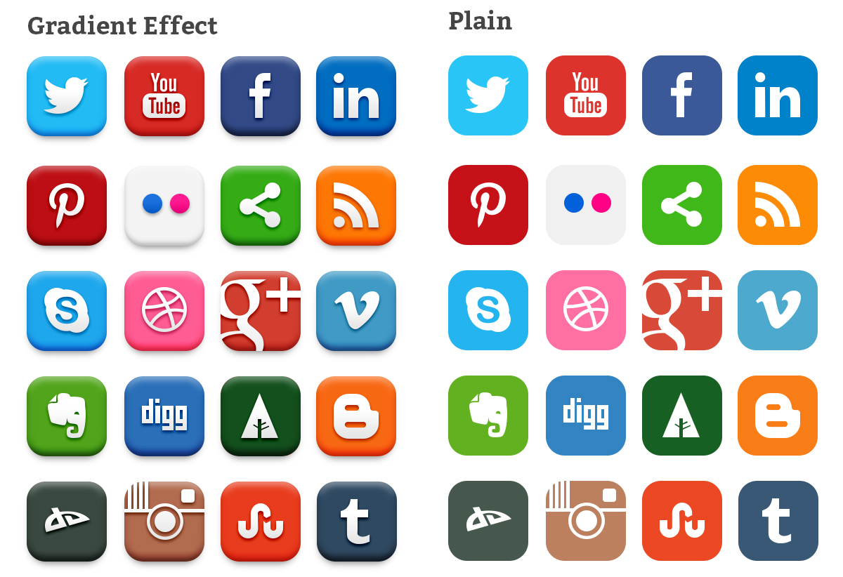 11 Top Four Social Media Icons Images