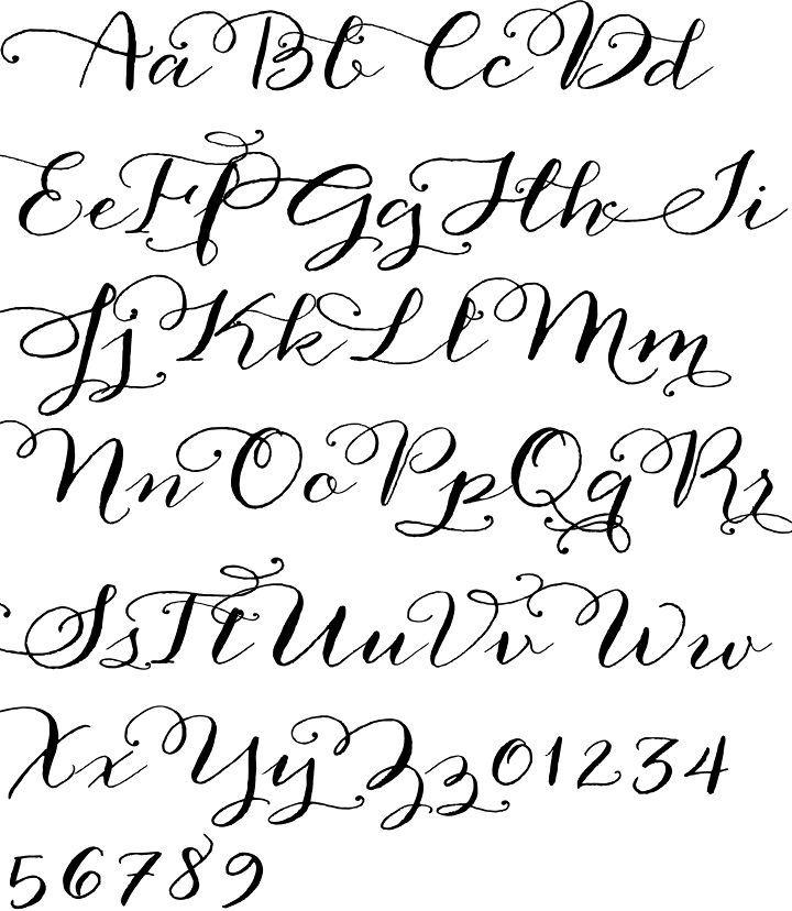 Printable Calligraphy Fonts