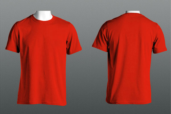 Red T-Shirt Front and Back