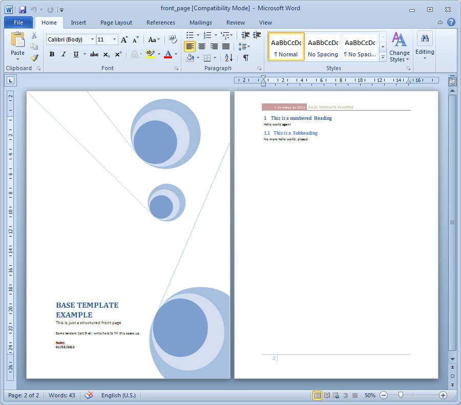 15 Cover Page Template Microsoft Word Images