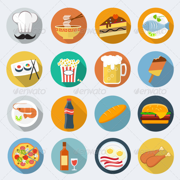 Round Flat Food Icon