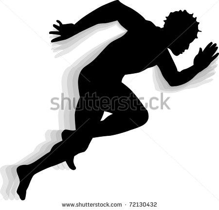 Runner Silhouette Vector Art