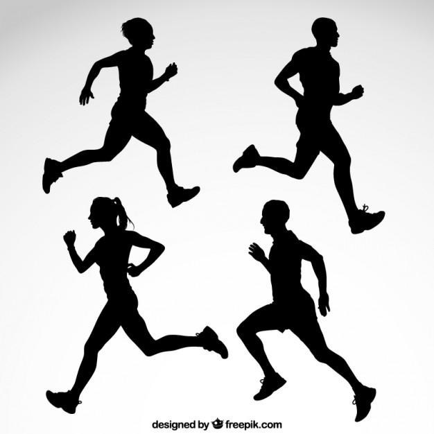 Runner Silhouette Vector Free