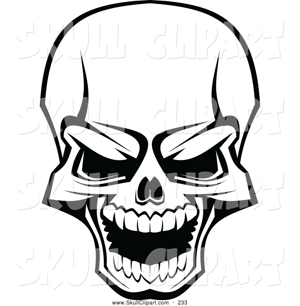 Scary Skull Clip Art