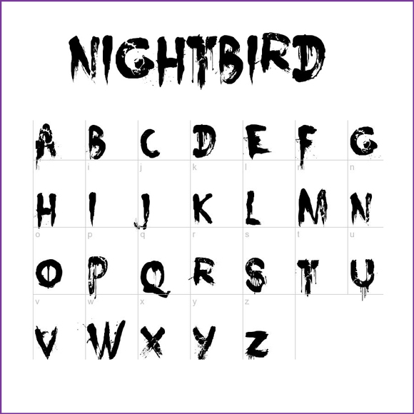 Spooky number fonts images free scary font