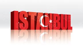 Tourism Istanbul Turkey Flag