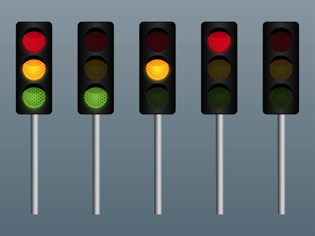 16 Traffic Signal Vector Images