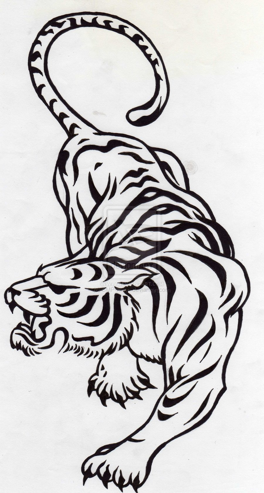 Tribal Tiger Tattoo Designs