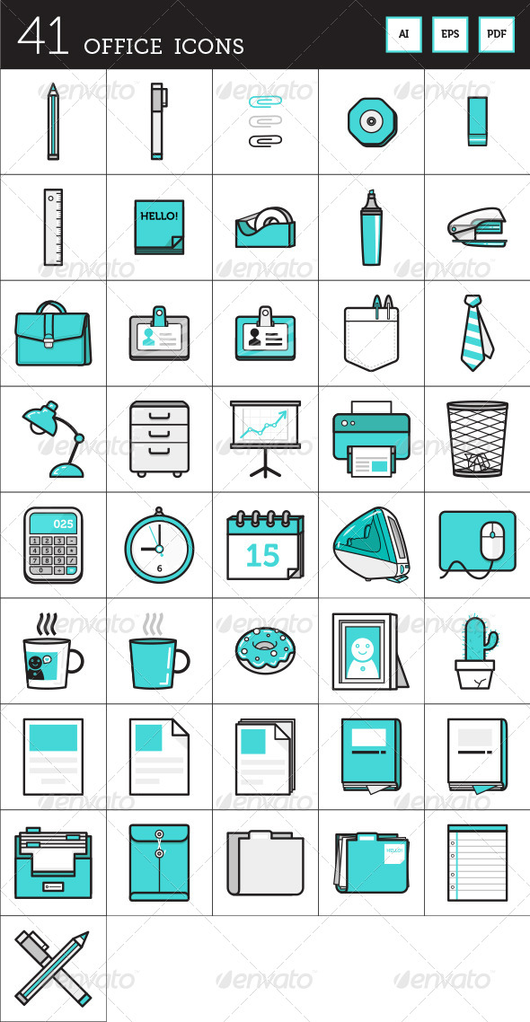 12 Flat Calendar Icon Office Images