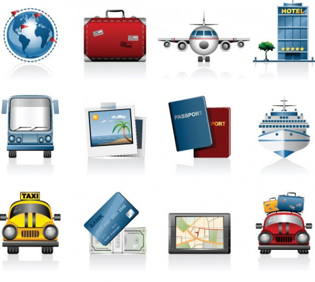 Vector Travel Icons Free Download