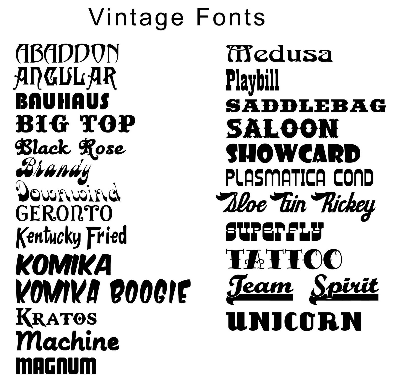 Typography Maker: 13 Retro Font Generator Images