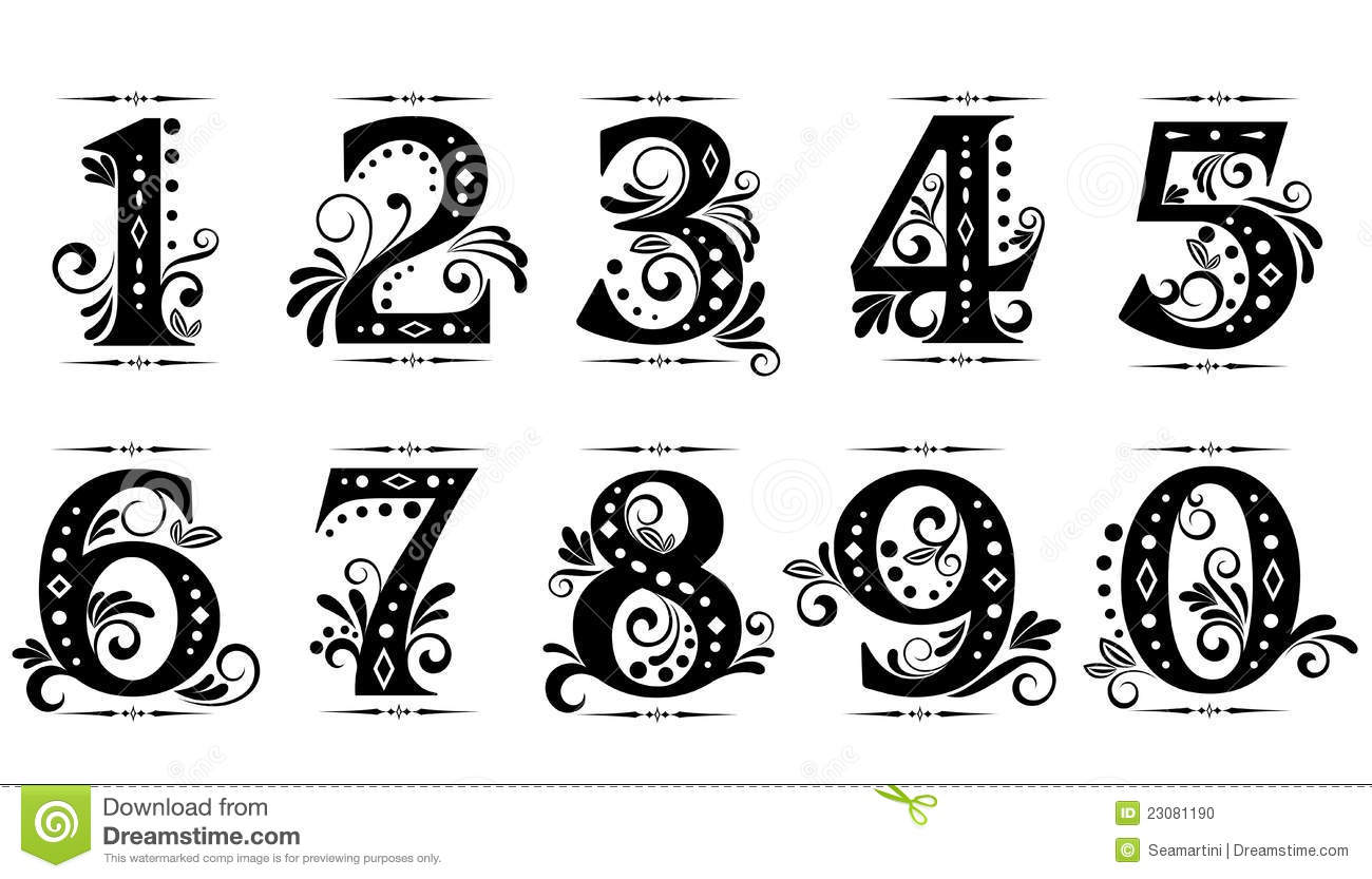 For fonts fancy number images