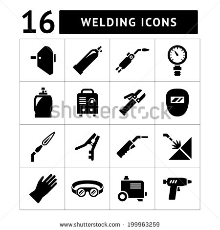11 Automotive Welding Equipment Icon Images