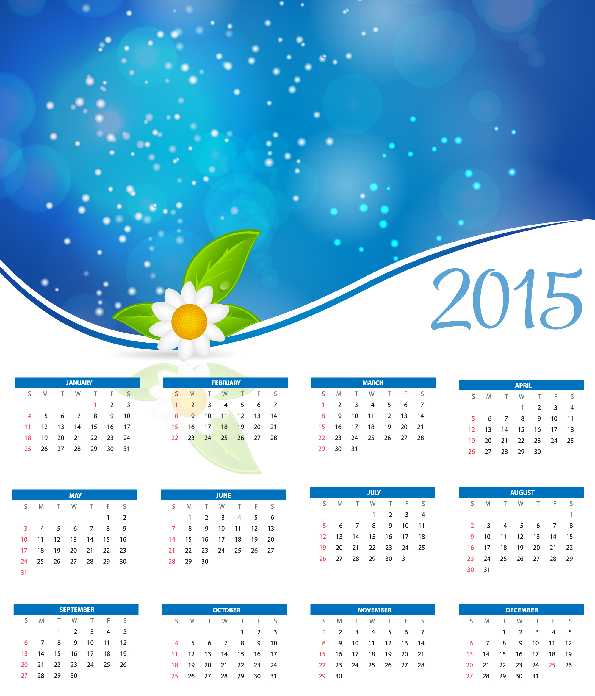 11 January 2015 Calendar Vector Images