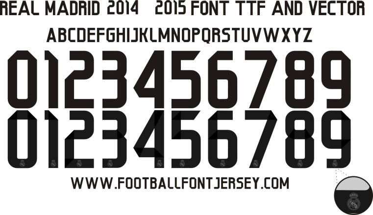 16 2016 Real Madrid Font Images - Real Madrid 2015 2016 Font, Real