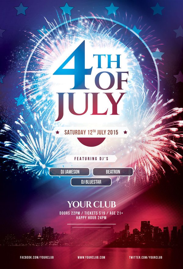 12 4th of july fireworks psd images