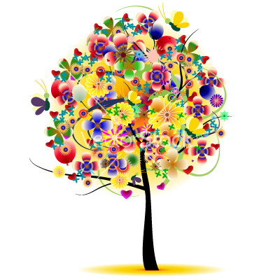 14 Nature Summer Tree Vector Images - Free Tree Vector Art ...