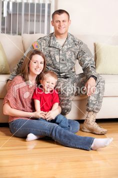 American Soldier with Family