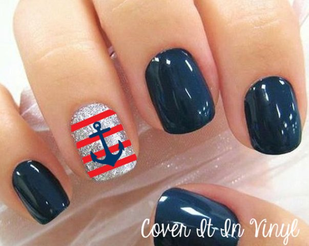 Anchor Toe Nail Designs, Sailor Toe Nail Design and Anchor Toe Nails - Nails Design Anchor ~ Beautify Themselves With Sweet Nails