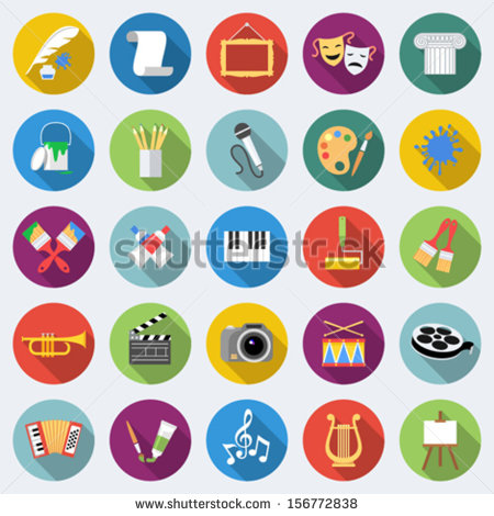 Art Flat Icon Design