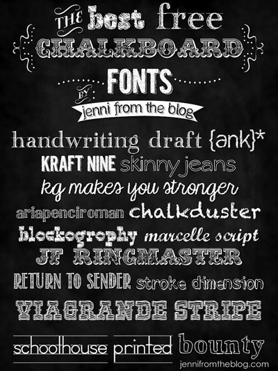 Best Chalkboard Fonts Free