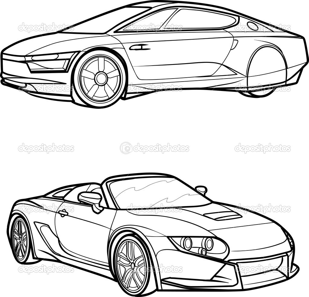 15 car outline vector images vintage car outline  sports police car outline vector classic car outline vector