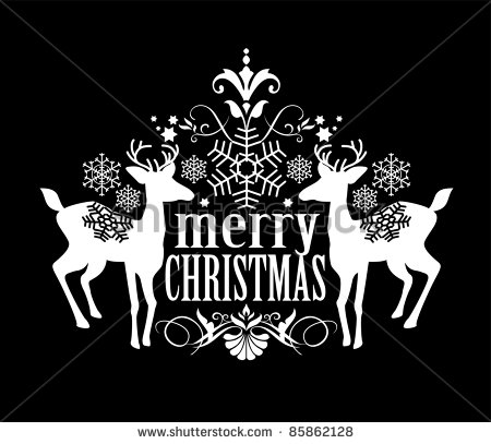 Black and White Christmas Designs