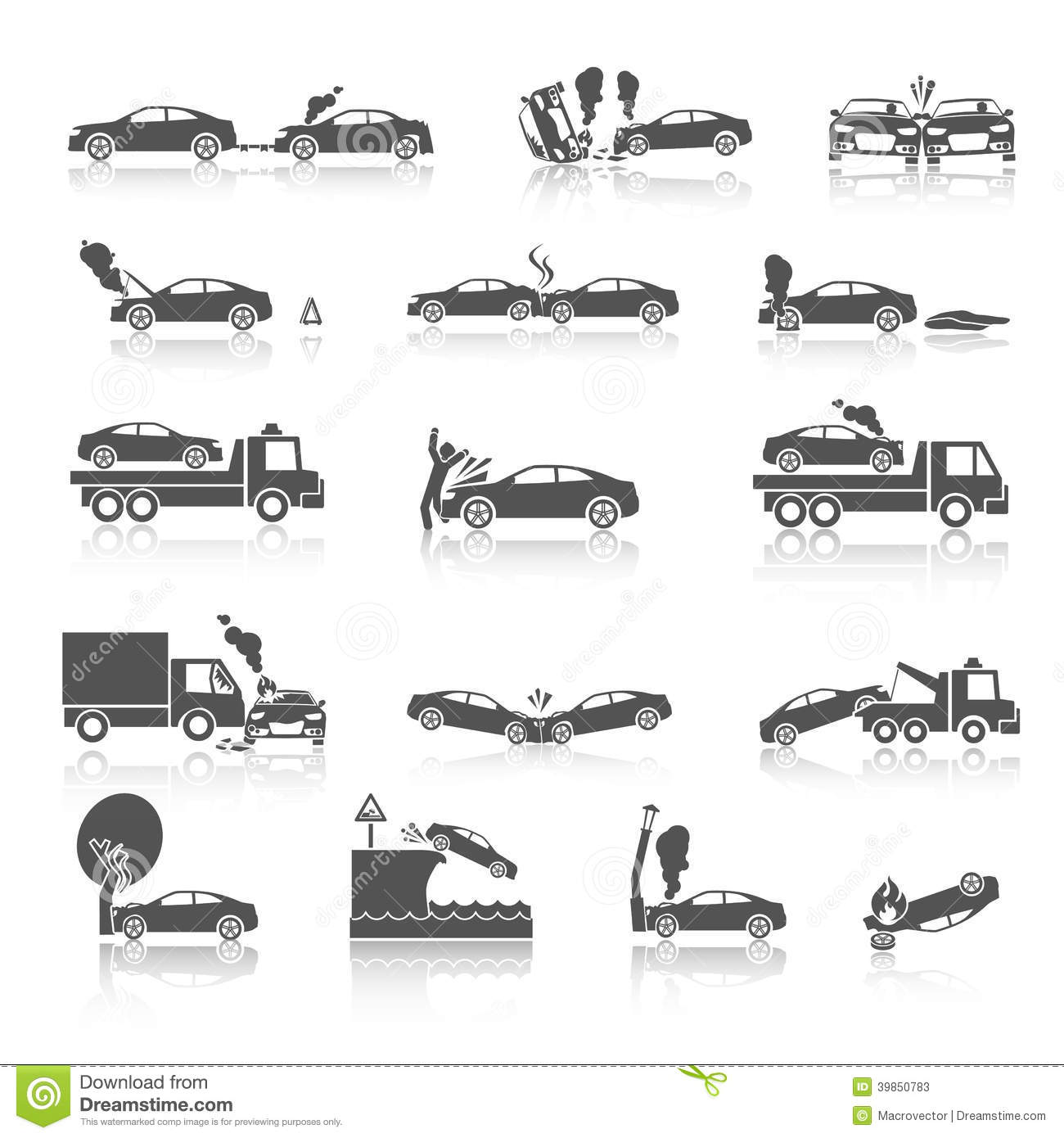Black and White Tow Truck Vector