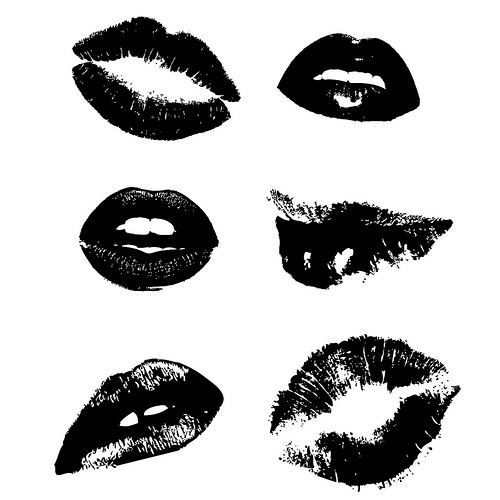 Lips Vector Black 16 Vector Images Of Bl...