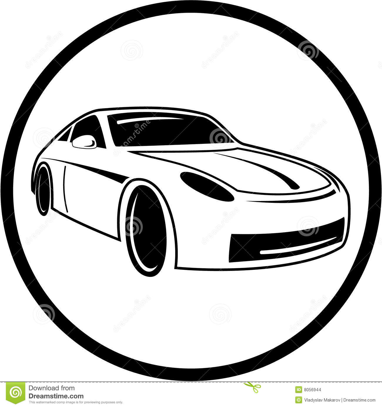 Black Car Icon Vector