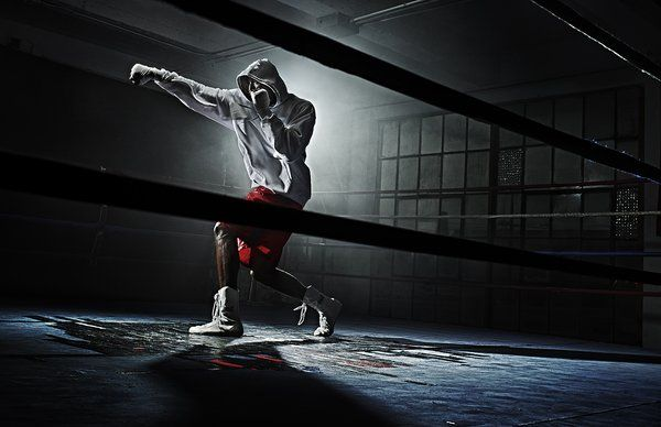 Boxer Shadow Boxing Training