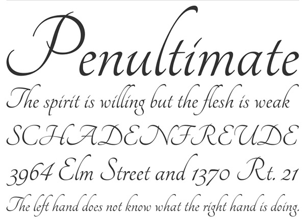 14 Easy Calligraphy Fonts Images Simple Calligraphy