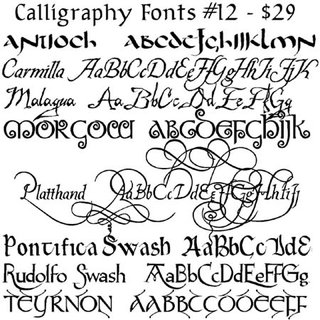 different types of fonts for writing