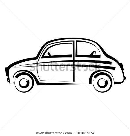 14 Black And White Car Icon Images