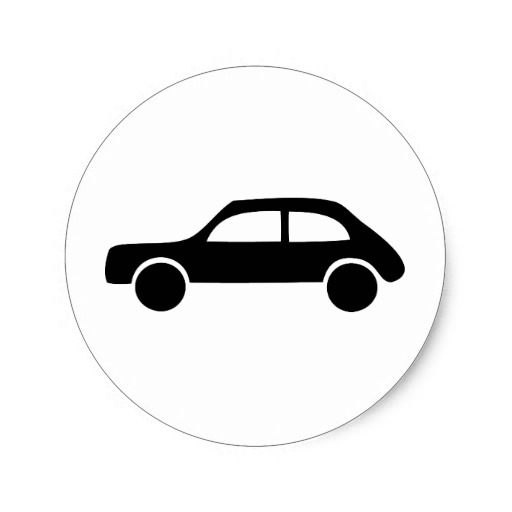 Car Icon Black and White