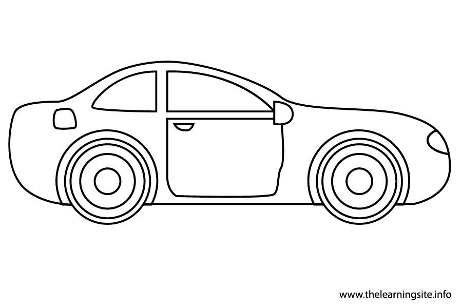Car Outline Coloring Page